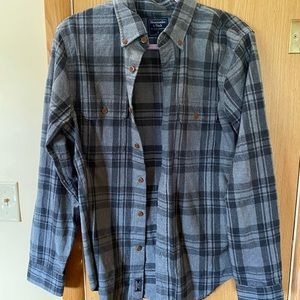 Abercrombie & Fitch Grey Plaid Flannel Size M